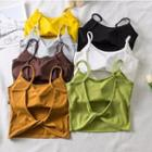 Twist-back Cropped Camisole Top