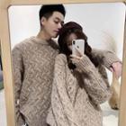 Couple Matching Plain Chunky Knit Sweater