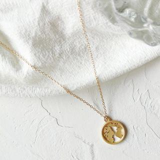 Alloy World Pendant Necklace 1 Pc - As Shown In Figure - One Size