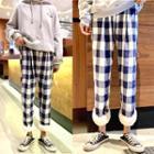 Fleece-lined Checked Pants
