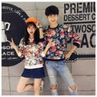 Matching Couple Floral Print Pullover