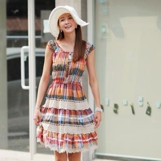 Multi-Color Tiered Sundress