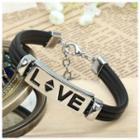 Love Letter Faux Leather Bracelet