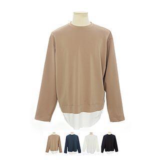 Long-sleeve Layered-hem Top