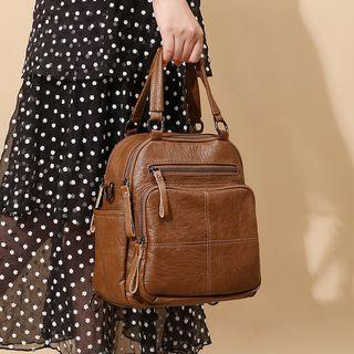 Genuine Leather Multi-way Backpack