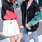Couple Matching Panel Sleeve Jacket