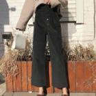 Wide-leg Cropped Corduroy Pants