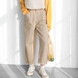 Straight Fit Cargo Pants Khaki - One Size