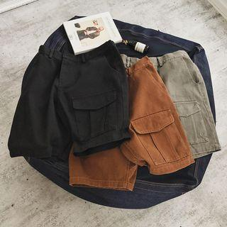 Plain Pocket Shorts