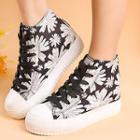 Floral Hidden Wedge Sneakers