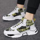 Print Panel Platform High-top Sneakers