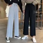 High-waist Drawstring Lettering Pants