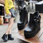 Bow Platform Ankle Boots