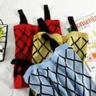 Argyle Print Knit Camisole Top