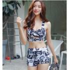Set: Printed Cover-up + Bikini