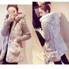 Hooded Furry Coat