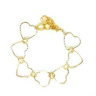 Golden Heart Frame Bracelet