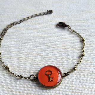 Copper Key Bracelet One Size