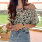 Small Floral Collar Chiffon Top