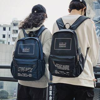 Lettering Lightweight Backpack / Chain