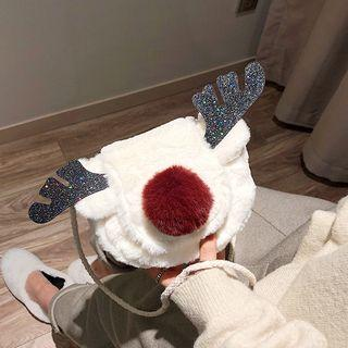 Reindeer Furry Crossbody Bag