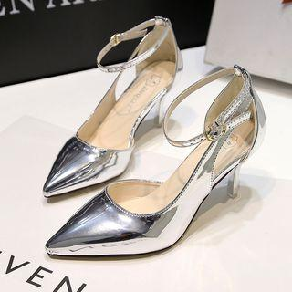 Metallic Pointed Pumps