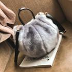 Faux Fur Handbag With Shoulder Strap