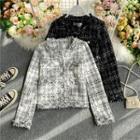 Tweed Long-sleeve Cropped Coat