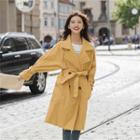 Batwing-sleeve Double-breast Trench Coat