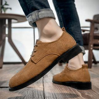 Genuine Suede Lace-up Shoes