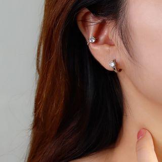 Rhinestone Stud Earring / Ear Cuff / Box Set