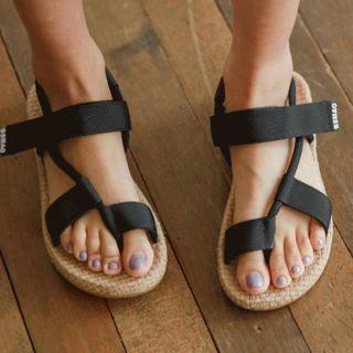Self-fastener Espadrille Sandals