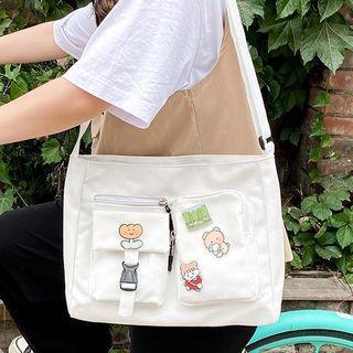 Pined Canvas Crossbody Bag