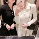 A-line Knit Midi Dress