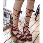Tasseled Lace Up Gladiator Sandals