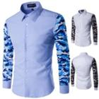 Camouflage Print Sleeve Shirt
