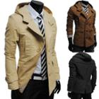 Double-breasted Hooded Trench Jacket