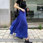 Flared Maxi Chiffon Skirt