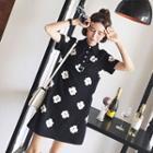 Floral Print Short-sleeve Polo Dress
