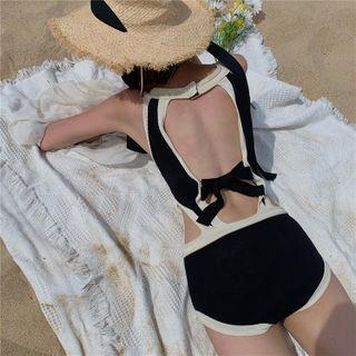 Cutout Knit Swimsuit
