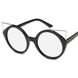 Cat Eye Colored Lens Sunglasses