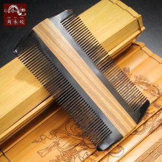 Dual Side Wooden Hair Comb As Shown In Figure - One Size