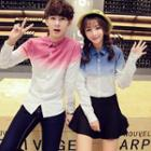 Couple Long-sleeve Gradient Shirt