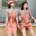 Plain Short-sleeve T-shirt / Jumper Shorts / Jumper Dress