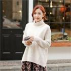 Turtle-neck Cable Knit Sweater