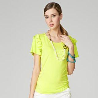 Short-sleeve Frilled Top