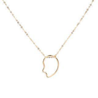Copper Irregular Hoop Pendant Necklace