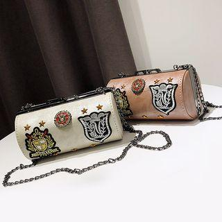 Applique Chain Strap Shoulder Bag