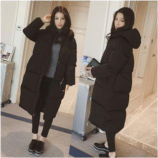 Couple Matching Long Hooded Padded Coat