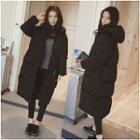 Couple Matching Long Hooded Padded Coat
